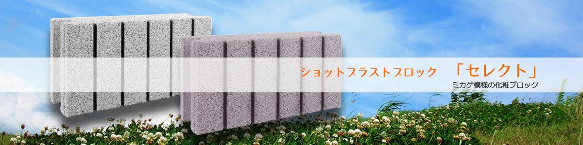 『セレクト』弊社オリジナルの化粧ブロックも製造しています。